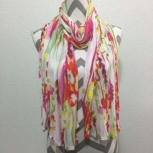 Old Navy Rayon Extra Long Floral Scarf